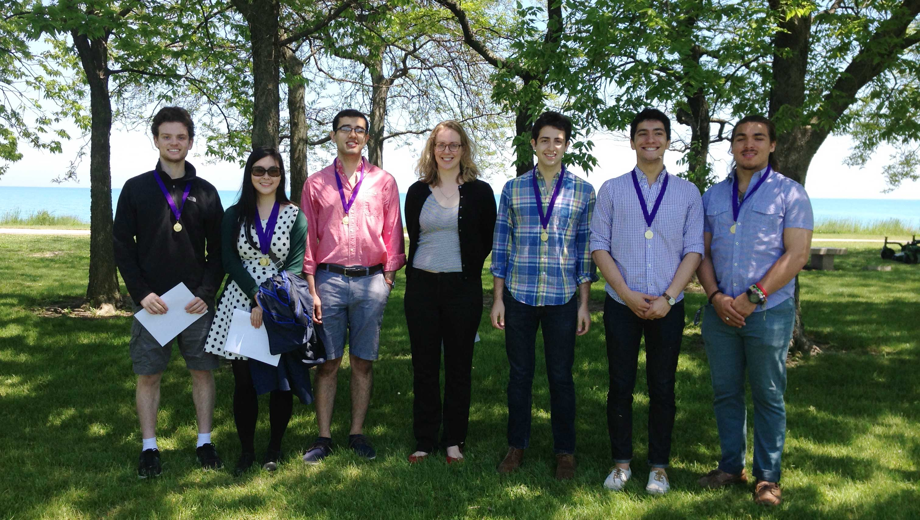 Murley and department prize winners